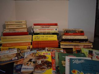 large lot of Assorted New and Vintage Cookbooks