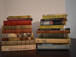 large lot of Assorted Vintage Novels   Titles Include   From The Earth To The Moon  Ben Hur  More