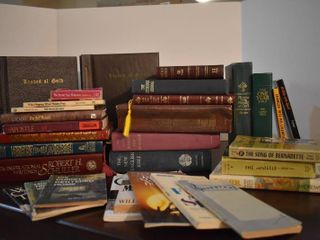 large lot of Assorted Religious Books
