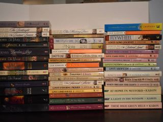 large lot of Assorted Historical Fiction Books   Authors Include   Jan Karon  Janette Oke  lori Wick    More