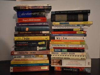 large lot of Assorted Dictionaries  Thesauruses    Writing Help Books