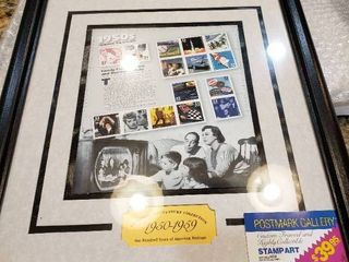 Postmark Gallery Framed Stamp Collection   1950 1959  Celebrate the Century  Collection