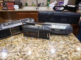 lot of 4 Sony Stereos   Model     CFM 140  CFS 240  CFS EW60  CFD S05