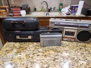 lot of 4 Panasonic Stereos   Model     RF 538A  RX 4850  RC X260  RX FS450