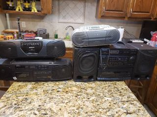 lot of 4 Sony Stereos   Model     CFD 560  CFD S01  CFS 201  CFD 50