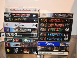 large lot of Assorted Movies on VHS   Titles Include   The Manchurian Candidate  Grapes of Wrath  The Incredible Journey    More