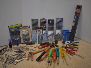 large lot of Screwdrivers  Wrenches  Hammers    More