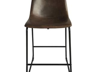 Christopher Knight Home   Cedric leather Counter Stool  Set of 2