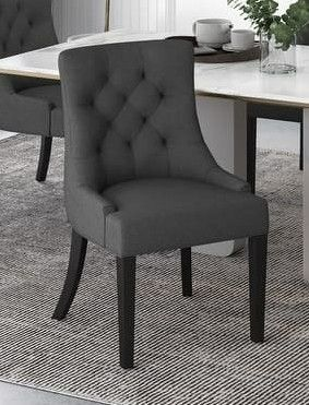 Christopher Knight Home   Hayden Tufted Fabric Dining Chairs  Set of 2