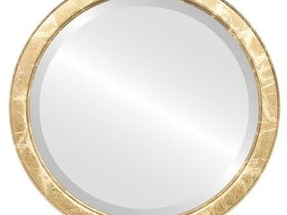 Athena Framed Round Mirror in Champagne Gold   Antique Gold   19x19
