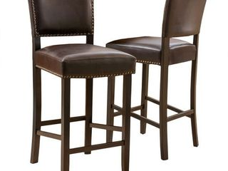 Cristopher Knight Home   Mayfield Contemporary Bonded leather Barstool  Set of 2