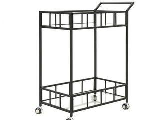 Christopher Knight Home   Falon Indoor Glass Bar Cart