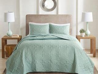 510 Design Hayley 3 Piece Bedspread Set   Seafoam   Full   Queen