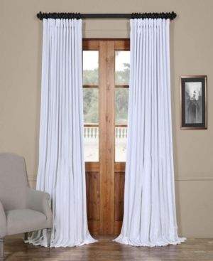 Extra Wide 100  x 84  Faux Silk Blackout Curtain Panel