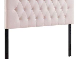 Copper Grove Wimpfen King Diamond tufted Velvet Headboard   Pink   King