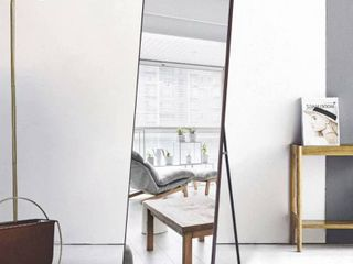large Full length Floor Mirror with Stand   21 26x64 17   Brown