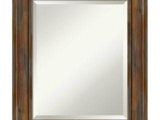 Bathroom Mirror  Alexandria Rustic Brown  42 X30