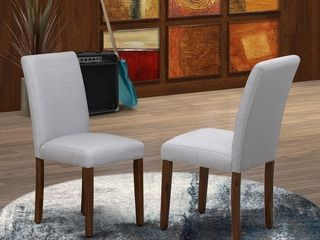 East West Furniture Upholstered Chair  Dining Chairs Includes Hardwood Structure with Fabric Seat and Simple Back  2 pack