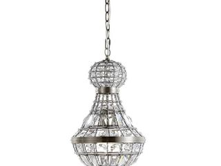 Jonathan Y   Regina 12  Crystal Metal Empire lED Chandelier  Antique Brass