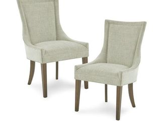 Madison Park Signature Ultra Dining Side Chair Set of 2   light Grey