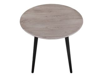 The Gray Barn Petra Rustic Dining Table   Antique Grey and Black