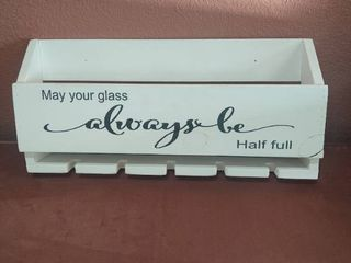 May Your Glass Always be Half Full Wine Rack