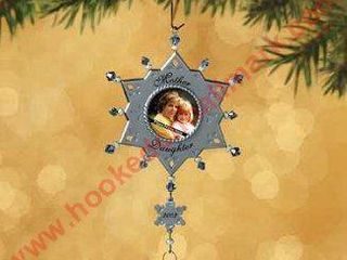 Hallmark Ornament 2002 Mother Daughter Photo Holder