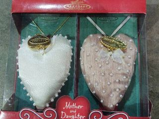 Hallmark Mother and Daughter Ornaments