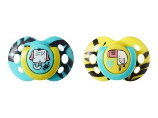 Tommee Tippee Closer to Nature Fun 2pk Pacifiers 6 18m