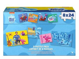 Blue s Clues 8 Pack of Puzzles in Storage Tub  for Families and Kids Ages 4 and up RETAIl  32