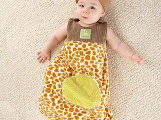 Born To Be Wild  Giraffe Snuggle Sack and Hat Multi Colored