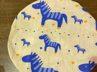 Baby Burping Cloth Blue Pony