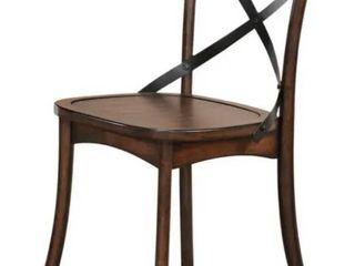 Acme Furniture Kaelyn Dining Chair  Set 2  Dark Oak   Black Retail  152