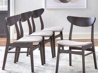 Simple living Parlin 4 piece Dining Set Chairs MISSING PARTS AS IS