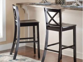 Copper Grove Frunza Black X back Bar Stool Missing Parts As Is