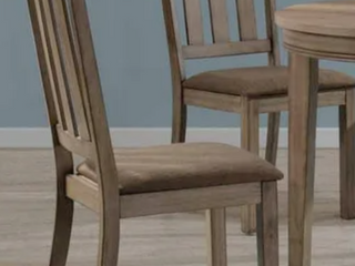 Pair of The Gray Barn Abbey Field Sandstone Slat Back Side Chairs