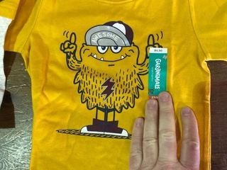 GARANIMAlS Shirt Boy 2T NP2 Yellow Monster