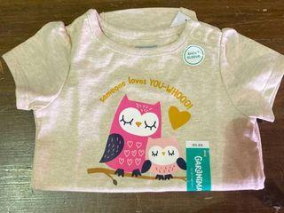 GARANIMAlS Short Sleeve Shirt tan with owls