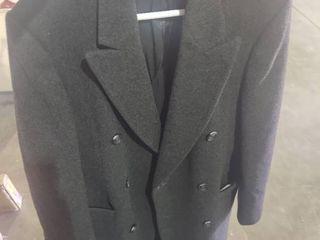 Full length Black Wool Winter Coat   Size Unknown