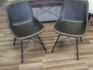 Set of 2 Black Dining Chairs