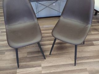 Two Chocolate Dining Chairs