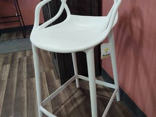 Single 24  Bar Stool with Unique Back and Arms