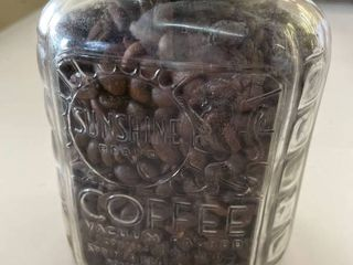 Vintage Sunshine Brand Glass Coffee Jar