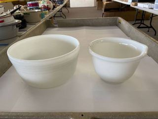 2  Pyrex Mixing Bowls marked Hamilton Beach Racine WI