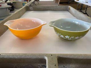 2  Pyrex Bowls