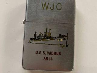 Korean War Era Zippo lighter USS Cadmus AR 14