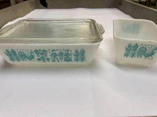 3  Pieces Pyrex Butter Print Dishes