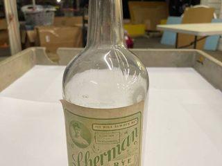1  Quart Sherman s Rye bottle
