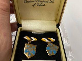 Oxford England lady Margaret Hall Cufflinks by Shepherd  amp  Wood lTD