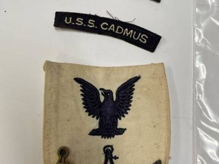 1950 s USS Cadmus Patches  amp  Pin